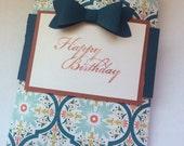 Birthday paper gift bag-birthday gift card holder- birthday candy holder- small gift bag for birthday