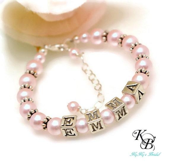 Personalized Baby Bracelet Little Girl Bracelet Baby Gift