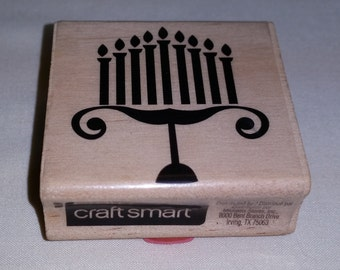 A Menorah Rubber Stamp