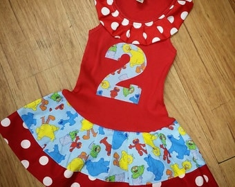 Elmo, Sesame Street, Dress.