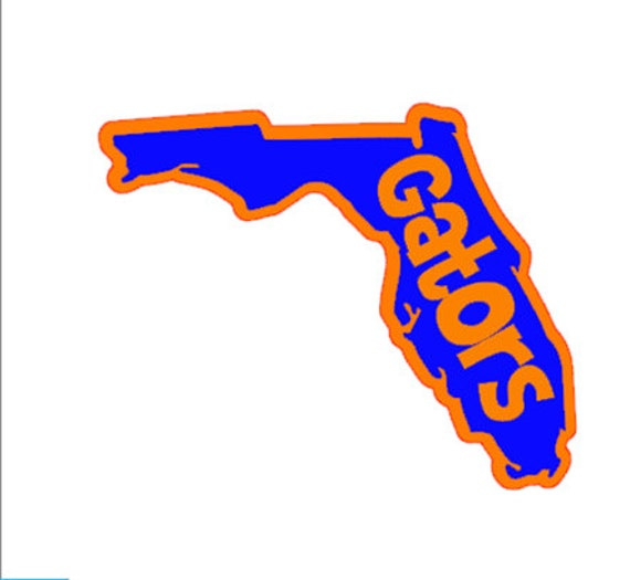 Florida Gator Stickers : Two color florida gators decal