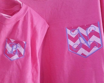 Mother Daughter Matching Pocket T's