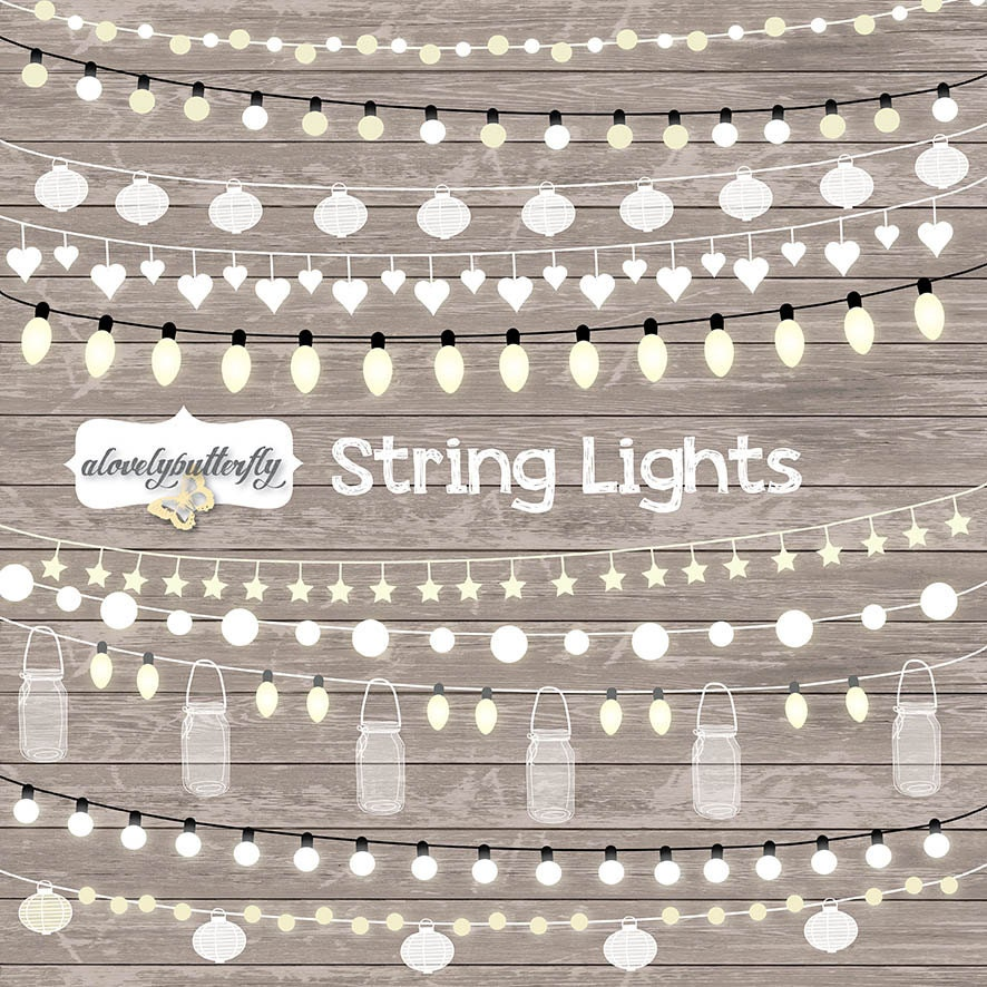 String Of Lights Clipart Free : String Lights Clipart, wedding invitation, Clipart lights, Party Lights, Wedding, Fairy Lights ...