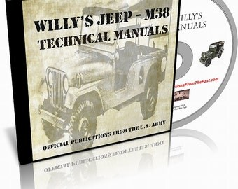Willy's Jeep M38A1 Technical Manuals on CD