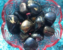 Rare Covellite, Tumbled Covellite, From Peru, Chakra, Reiki, Crystal Grid, Pagan Altar, Magickal, Spells, Metaphysical, Meditation, Zen!