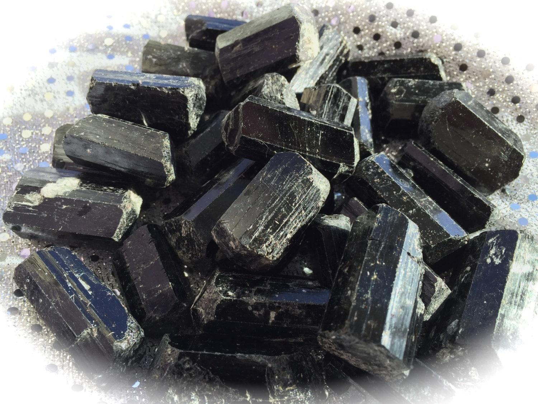 Black Tourmaline Rough Black Tourmaline Chunk Crystal Grid