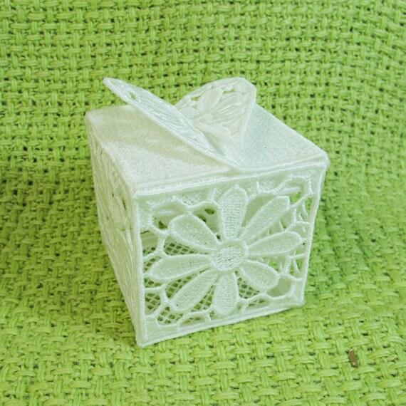 3d Fsl Cross Gift Box 3 Free Standing Lace Heart Valentine