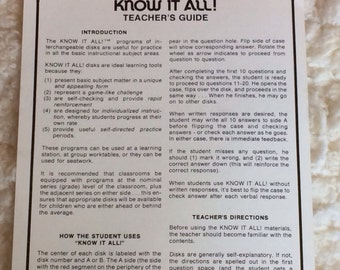 Vintage 1974 Know-It-All Geography Program Educational Insights.