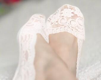 Lace socks, socks for heels, peep socks, wedding socks, bridal shoes, heels peep socks, bridal bridesmaids womens lace socks