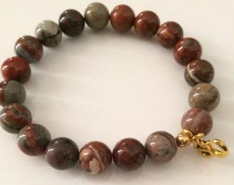 OM and natural opal bracelet