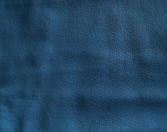 Vintage 80's Rich Warm Blue Cotton Fabric 1 yd.