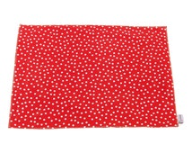 Pet mat/ Pet Feeding Mat Large Placemat for under the feed bowl Red Cherry Polka Dot