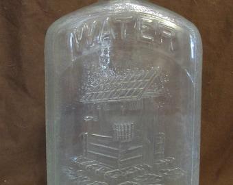 Hemingray Water Bottle, Vintage 1930's