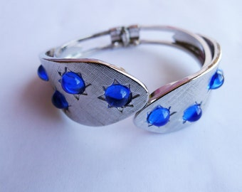 The Moonlite, Blue Vintage Inspired Cuff Bracelet