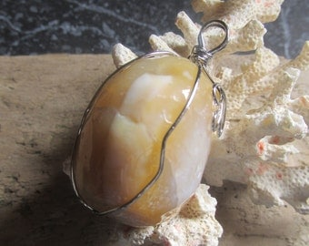 Agate Pendant Bold, Big, Striking Fashion Statement Agate
