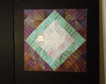 """Modern Quilt top 33"""" X 33""""       WQ #15"""