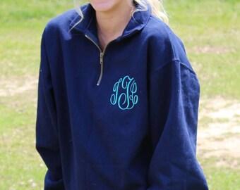 Monogram Quarter Zip Jackets, Monogrammed jacket, Personalized, School, Sports, Warm, Jacket, Pullover