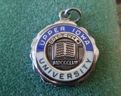 Sterling Silver Pendant Medal Medallion Seal of Upper Iowa University since 1857 Fayette Iowa L1409