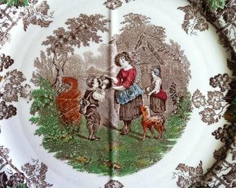 """1937 3 """"Spode's Byron"""" plates"""