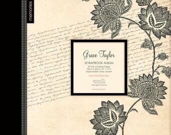 Grace Taylor Scrapbook Album 12x12.  Snapload style. Paisley Floral