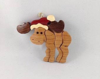 Wooden Moose Ornament