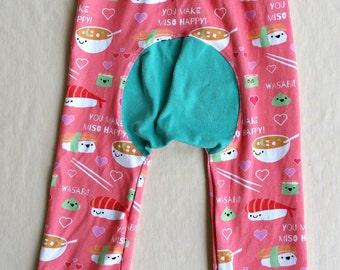 You Make Miso Happy Grow With Me Pants, Maxaloones, size 1
