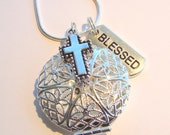 Blessed Essential Oil Diffuser Necklace, Aromatherapy Necklace