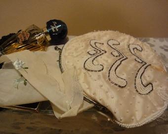 Formal Beaded Purses/Accessories/Vintage Purses/1940's Purses/Vintage Clothing/Vintage Purses/Vintage Beaded Purses