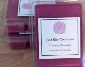 Hand Poured All Natural Soy Wax Melts/Tarts - Cranberry Marmalade