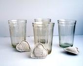 Vintage Soviet faceted glass, traditional ussr drinking glass 200gr, GRANYONKA USSR, Soviet Union Design Tableware