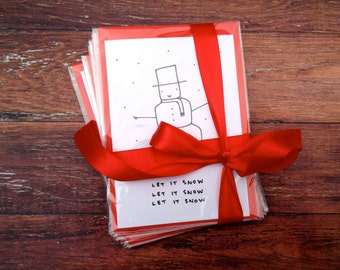 Christmas Card Bundle! x10 Custom hand drawn cards // Mix and match by Tori Doodles
