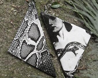 Earring Snakeskin, Reptile, Python