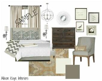 Interior Design Service-Customized & Affordable Virtual E-Design, E-Decor Service, Moodboard and Product Shopping Guide