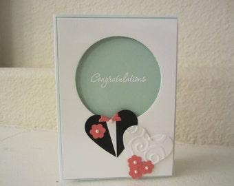 Wedding Card Bride and Groom Hearts