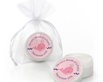 Tale Of A Girl Whale Lip Balm Party Favors - Baby Shower and Birthday Party Supplies - 12 Count