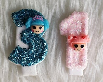 Lalaloopsy glitter birthday number candle, comes in any number you like