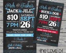 jack and jill ticket templates - popular items for stag and doe on etsy