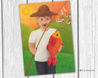 "Originalillustration  ""fisher"""