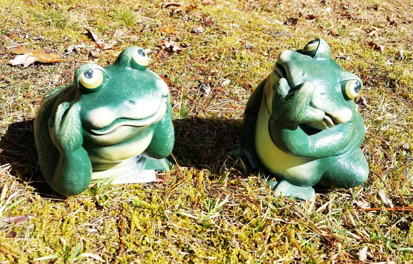 Ceramic Frogs Etsy Garden Idea