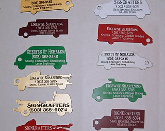 Vehicle Key chain, dog, laundry, and luggage tags --  also Zipper pulls, Cosplay and Steampunk charms