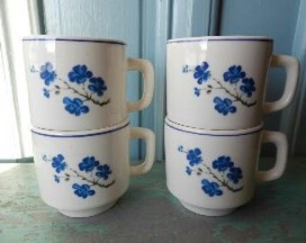 Set of 4 Vintage Brazilian Stacking Mugs!