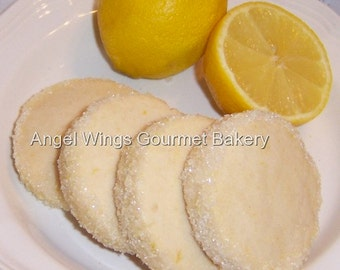 Lemon Shortbread Cookies 1 dozen Gourmet Butter Cookies
