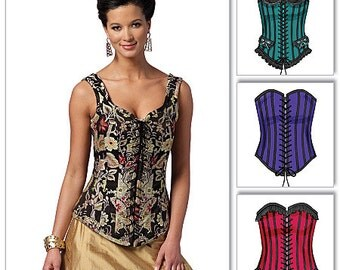 Butterick Sewing Pattern B5662 Boned Corsets with Lacing