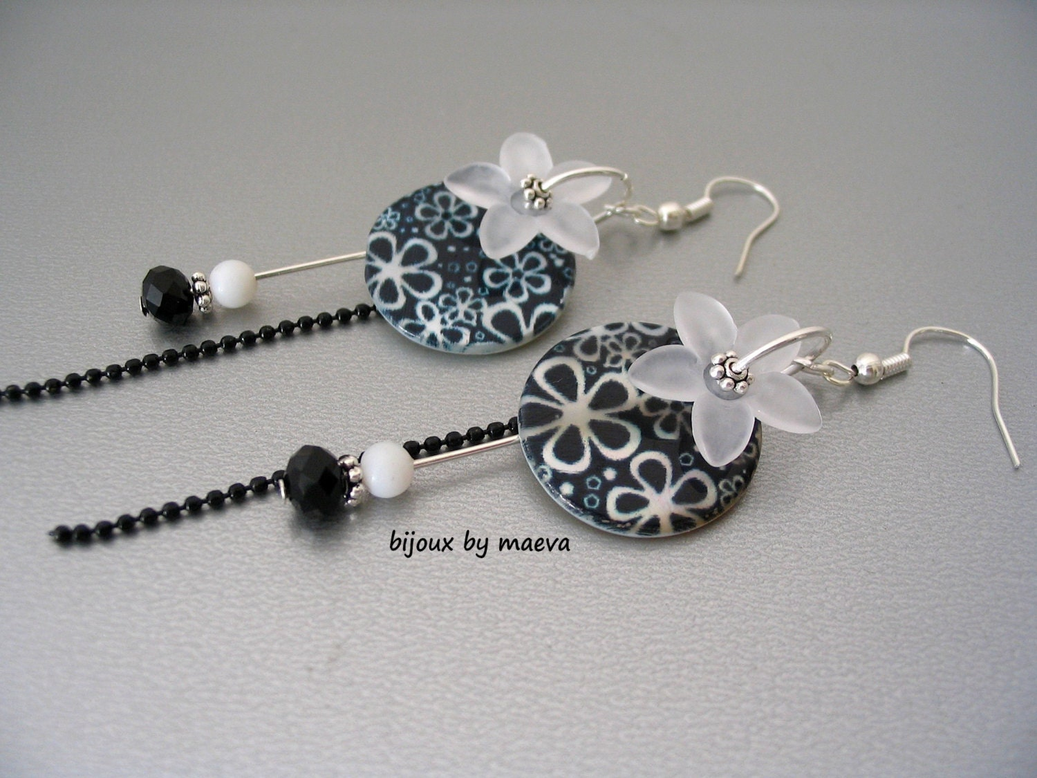 Bijoux Fantaisie Jewelry : Black costume jewelry pearl earrings and by
