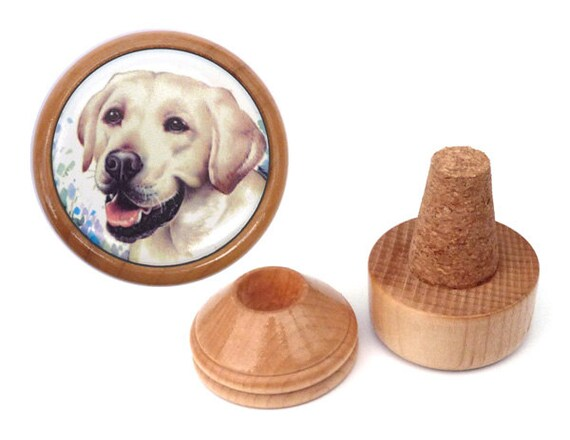 Unique handmade yellow labrador gift for dog lover bottle for Unusual dog gifts