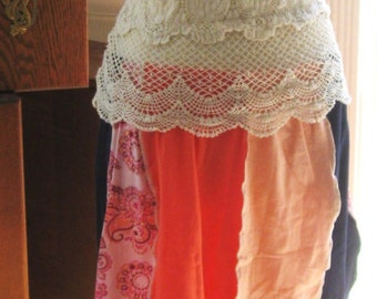 Re-purposed T shirt A-line Skirt