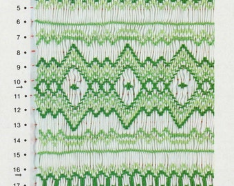 "Smocking Plate ""Emerald Isle"" by Grace Knott Traditional English Smocking Pattern Vintage 1979 Cables, Diamonds Intermediate"