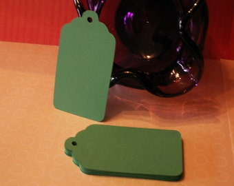 24 scalloped 3 inch tags for gifts, party tags, cards, scrapbooking, crafts, item tags.