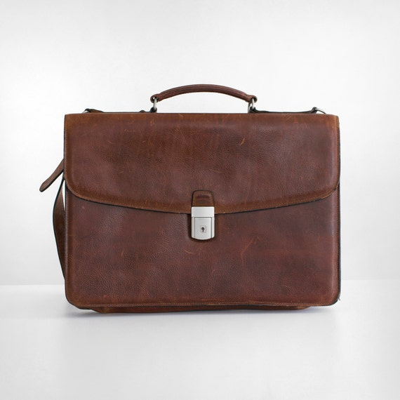 vintage georges brief leather lawyer bag by
