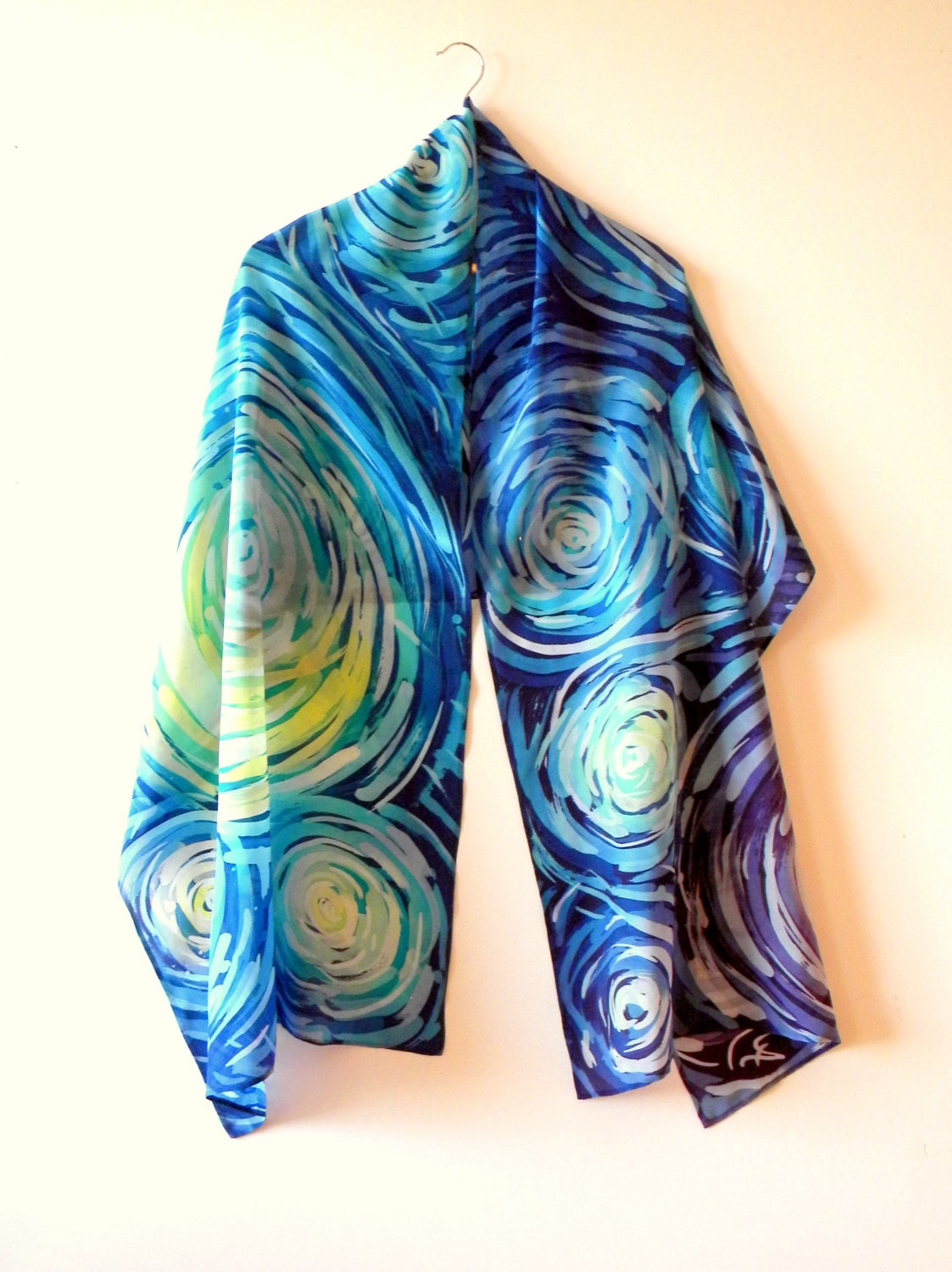 painted silk scarf womens scarves scarf by allatai